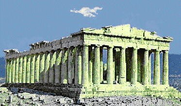 Plain Roman Architecture Parthenon Benchmark In Inspiration