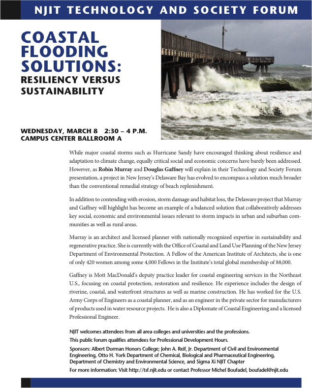 COASTAL FLOODING SOLUTIONS: RESILIENCY VERSUS SUSTAINABILITY